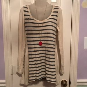 Pure Good Anthropologie Striped Long Sleeve Blouse